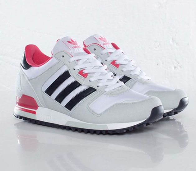adidas Originals ZX 700 W - Running White / Legend Ink - Blaze Pink. Pink  SneakersSneakers FashionWomen's ...