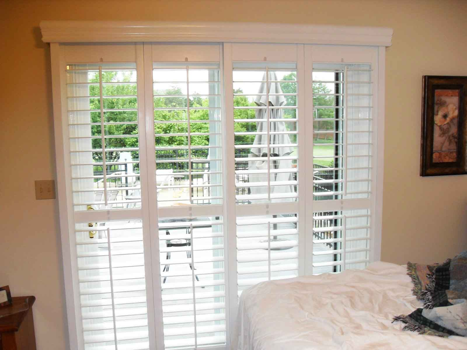 Blinds For French Doors Material Cost Color Of The Blind - Hunter douglas blinds for patio doors