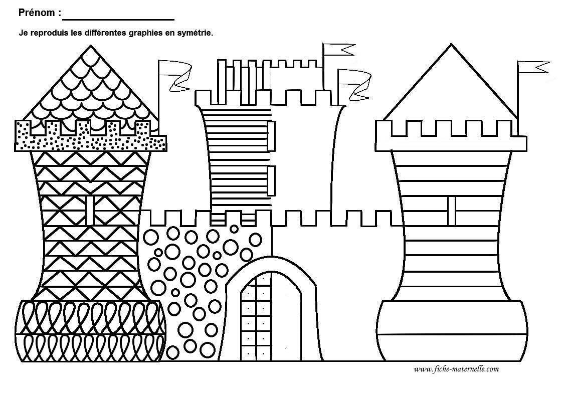Coloriage Chevalier Gs.Graphisme Gs Et Ms Graphie De Base Site Maths Lecture Phono