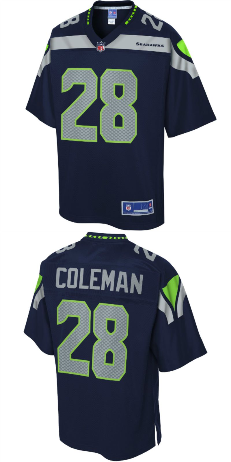 buy popular acf26 f2b5c UP TO 70% OFF. Justin Coleman Seattle Seahawks NFL Pro Line ...