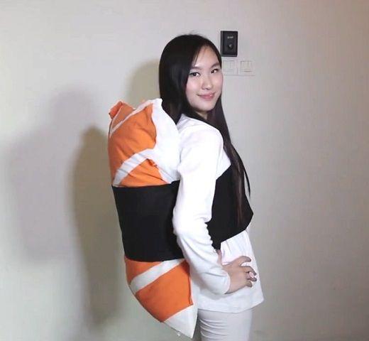 Diy No Sew Sushi Pillow: No Sew Salmon Sashimi Sushi Costume   Halloween   Pinterest    ,