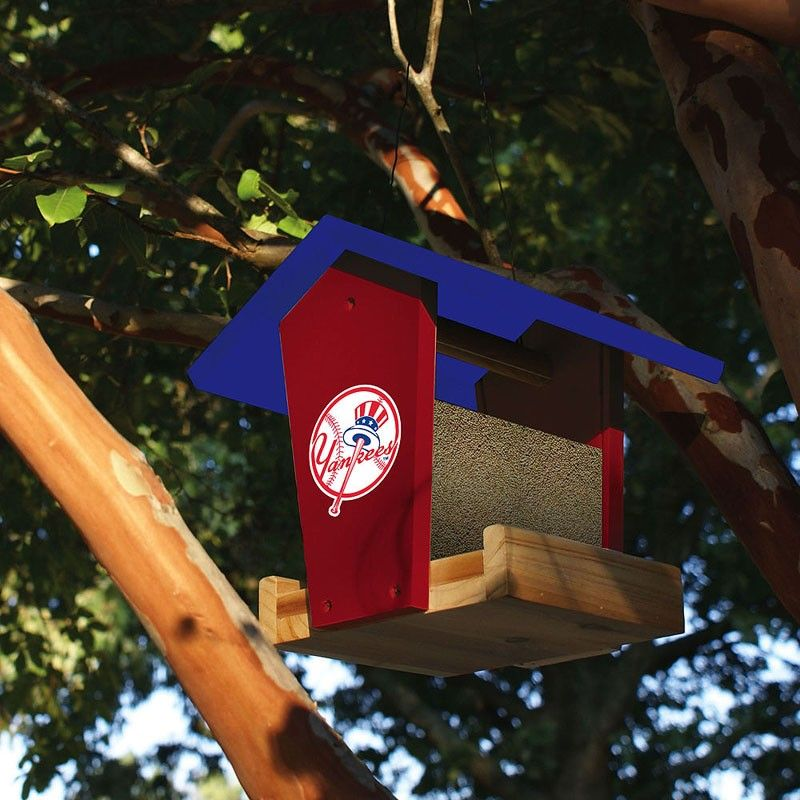 NEW YORK METS  CEDAR BIRD FEEDER