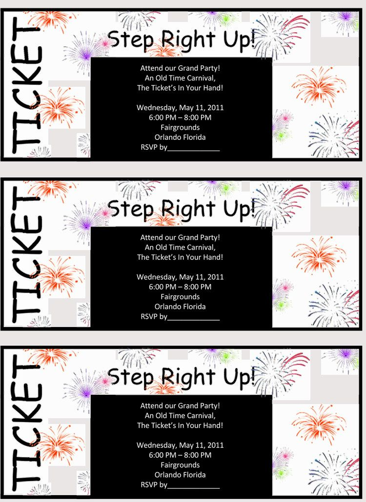 45 Raffle Ticket Templates Make Your Own Raffle Tickets Raffle Tickets Template Ticket Template Carnival Tickets