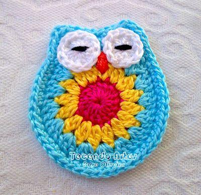 Tecendo Artes em Crochet: Corujinhas de crochê, paso a paso