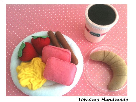 ETSY Pretend Felt food Play food  Happy  by TomomoHandmade on Etsy, $35.00
