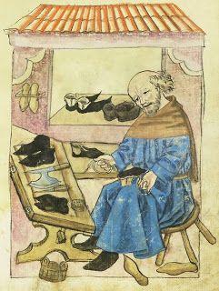Image result for medieval manuscript cobbler