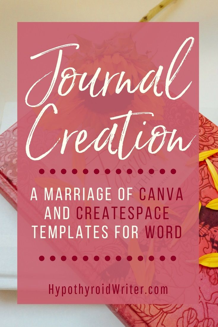 i 39 ve created my first journal using canva createspace best of the hypothyroid writer. Black Bedroom Furniture Sets. Home Design Ideas