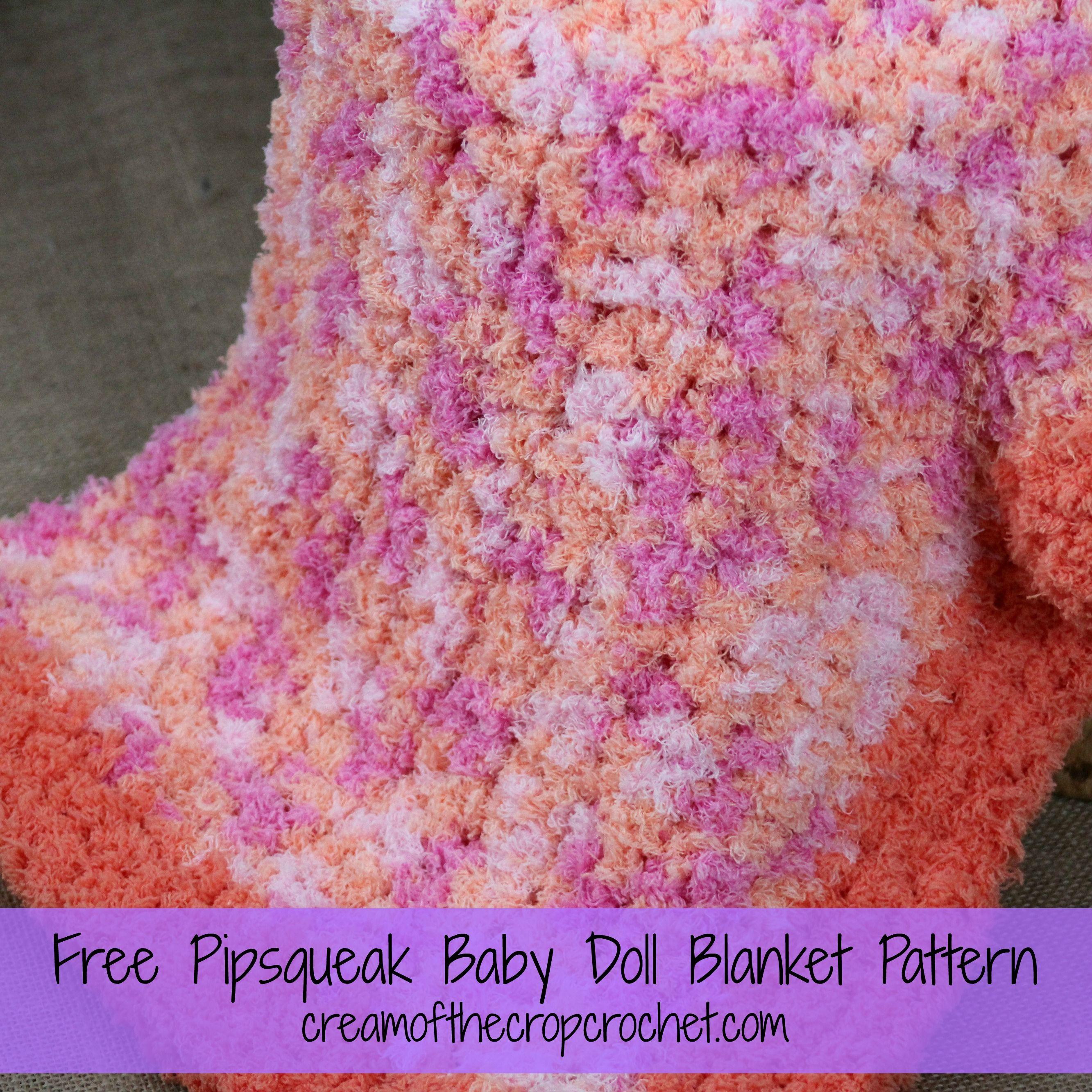 Make This Baby Doll Blanket With 2 Skeins Of Bernat Pipsqueak Yarn