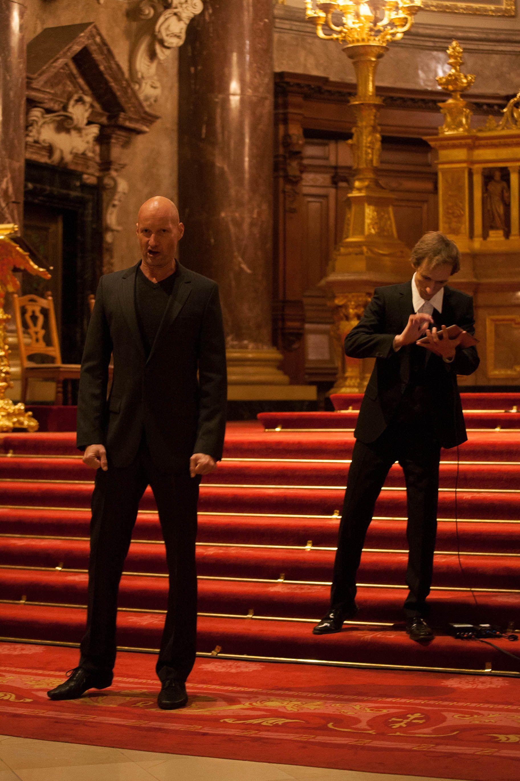 "photo: Johannes Püschel | concert @berlinerdom 16.12.2012 | playing aria ""Großer Herr"" (Bach) on mobile devices featuring Roman Trekel"