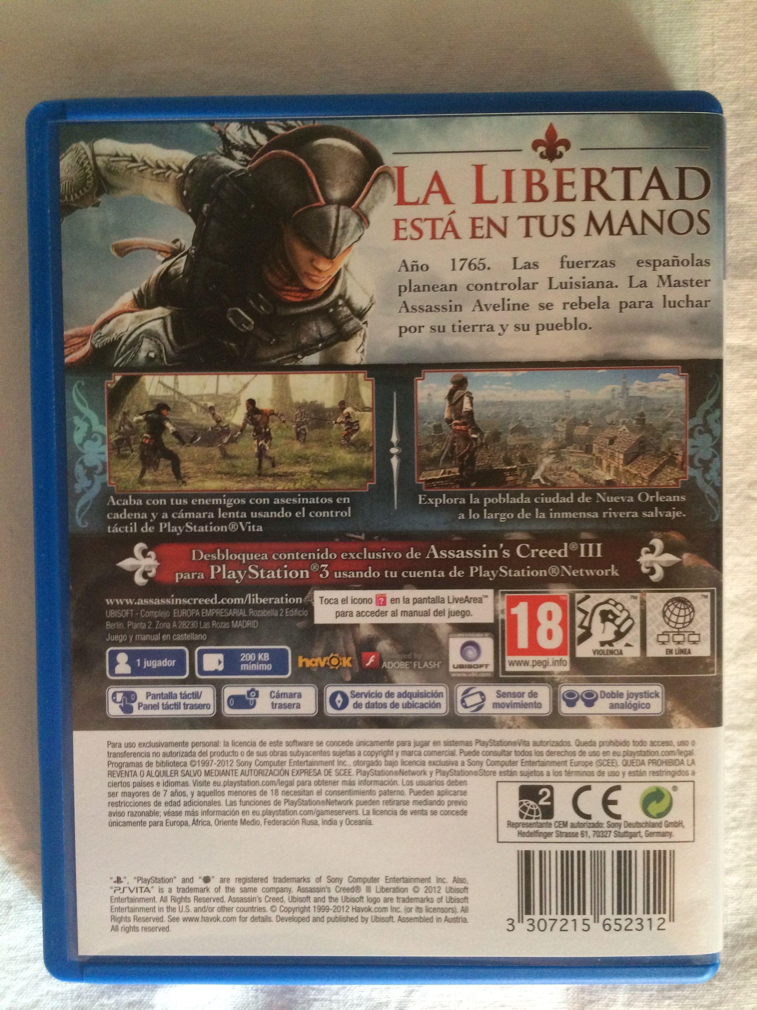 Assassins Creed Iii Liberation Game Behind Playstation Network 200