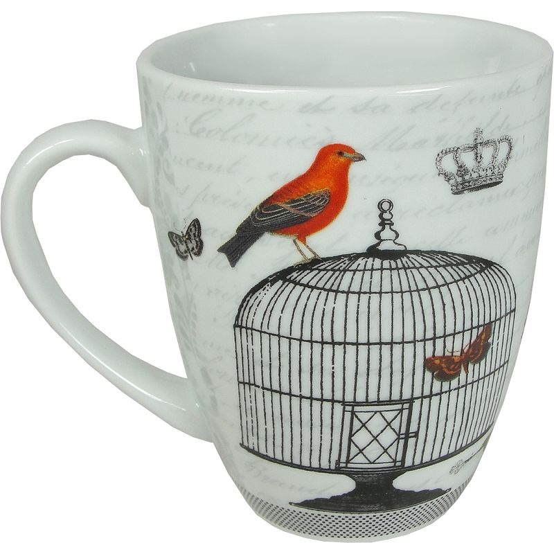 Passerines Birds and Flowers Decorative Mug