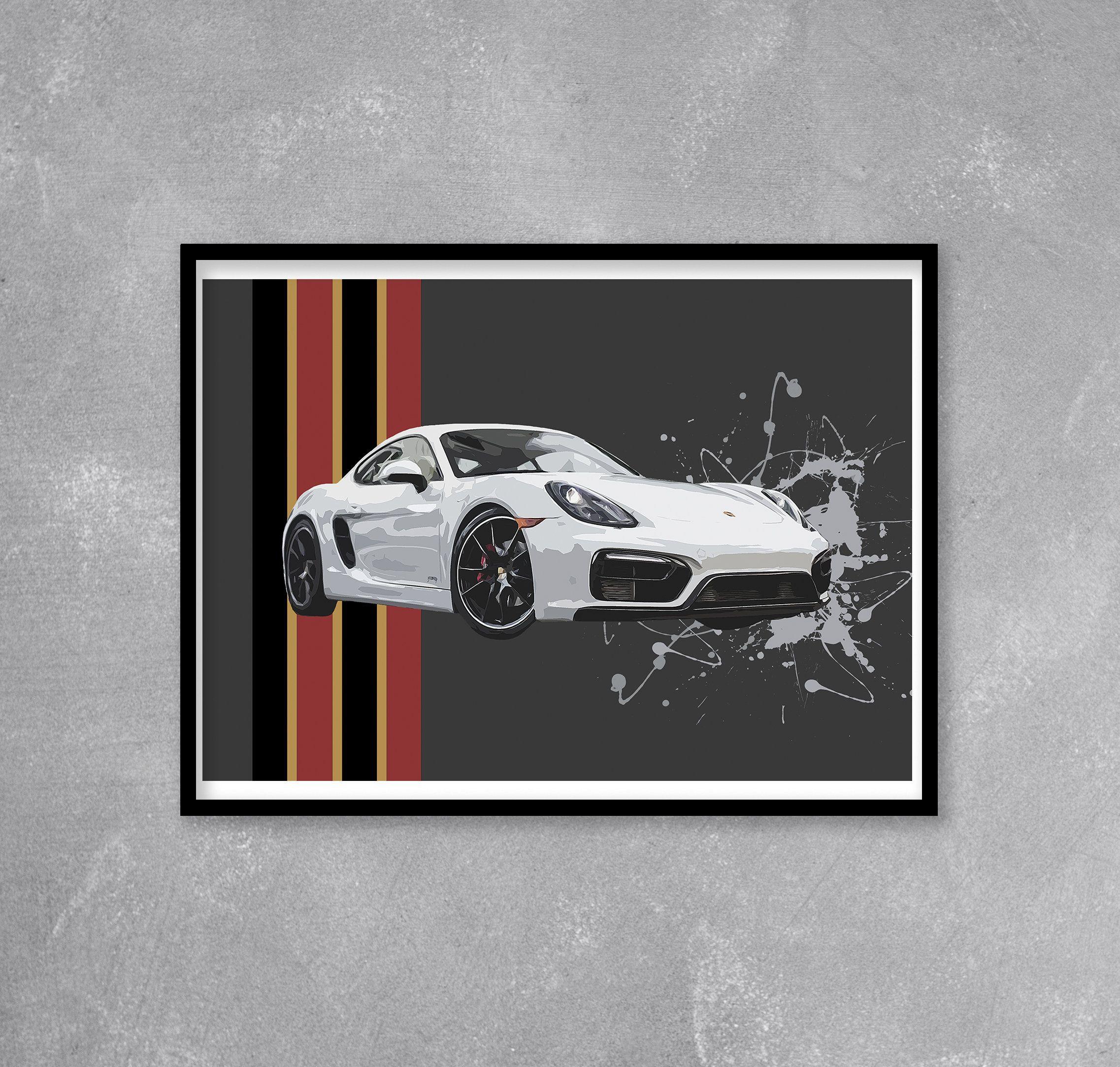 Porsche Cayman Wall Art Limited Edition Print Porsche Etsy Pop Art Print Art Pop Art