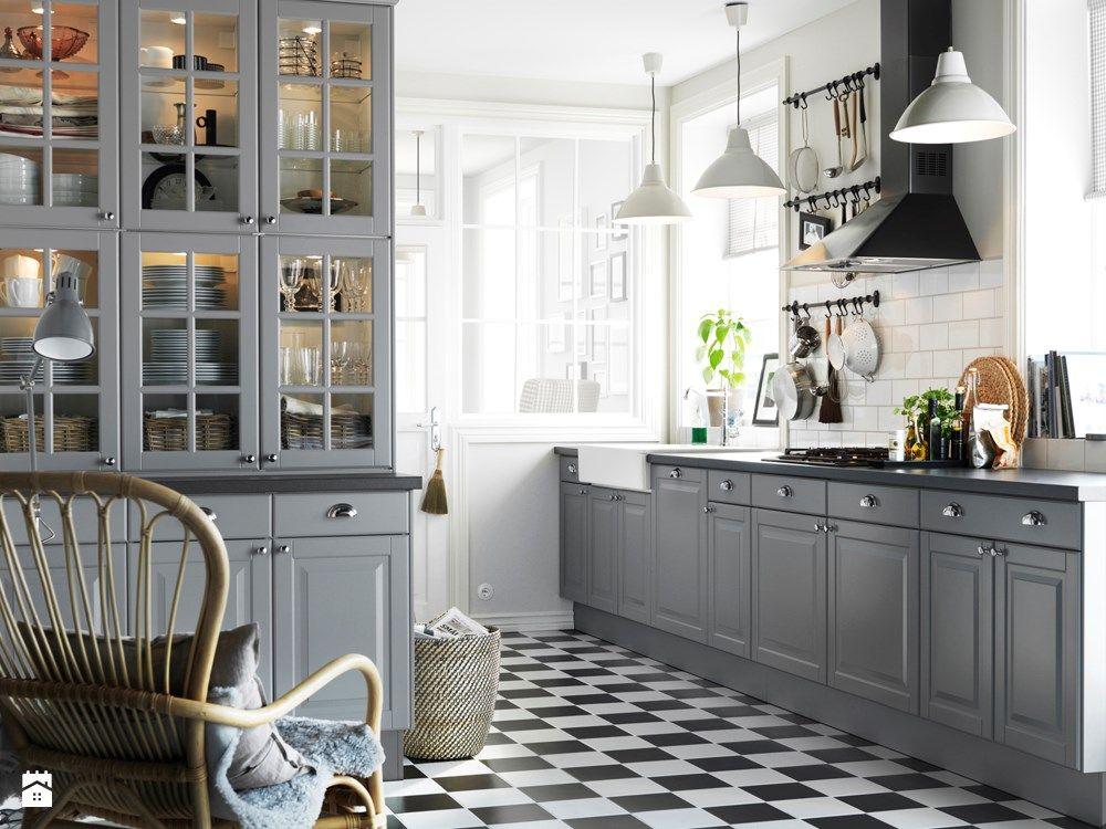 Zdjecie Kuchnia Szara Ikea Kitchen Cabinets Grey Kitchen Cabinets Interior Design Kitchen