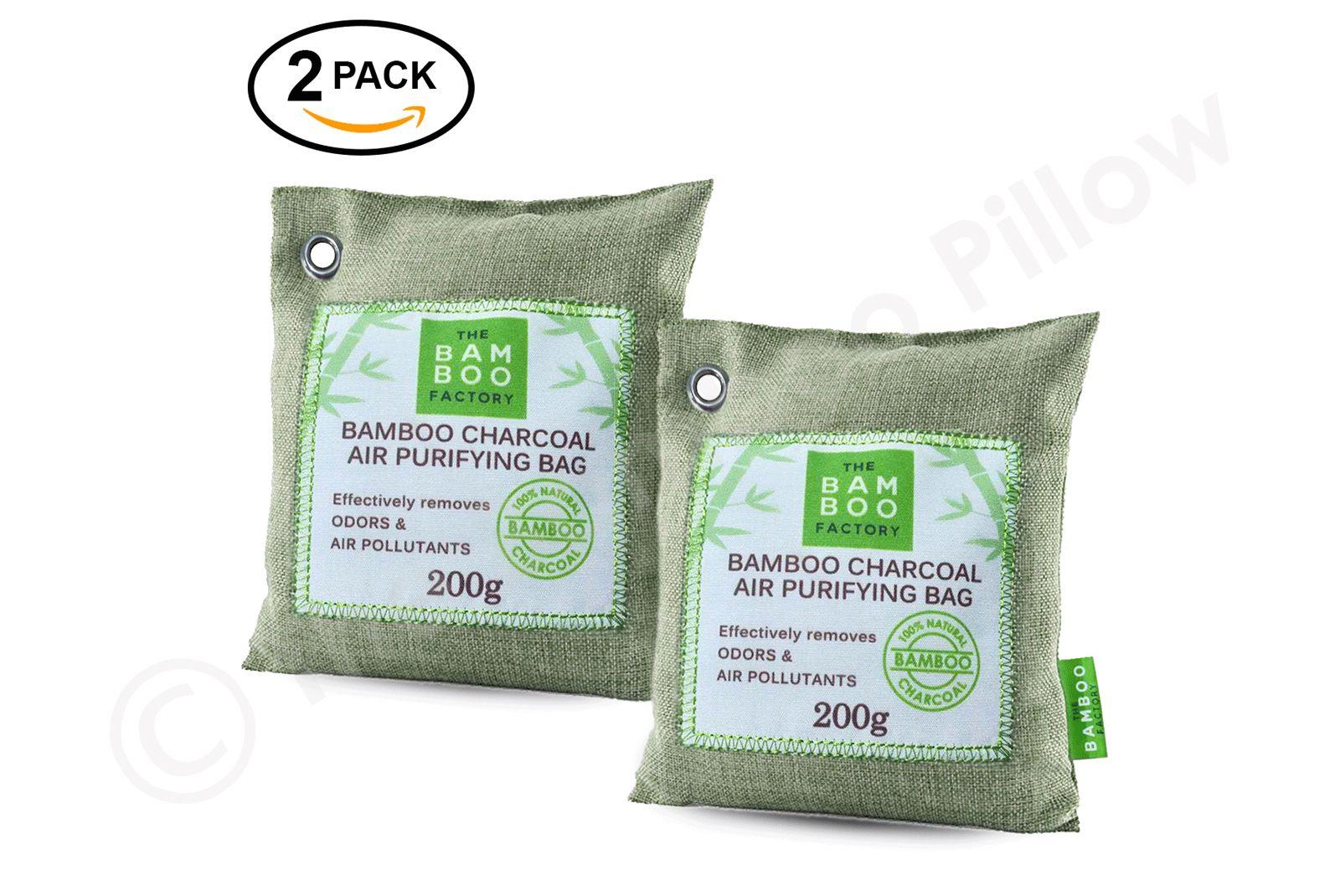 2Pack Natural Activated Bamboo Charcoal Deodorising Air