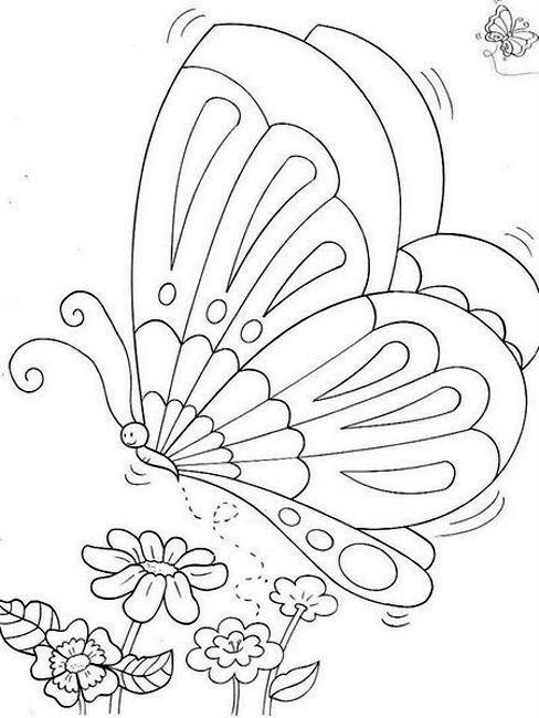 Artes da Nique: Riscos de Borboleta | Colorbook | Pinterest ...