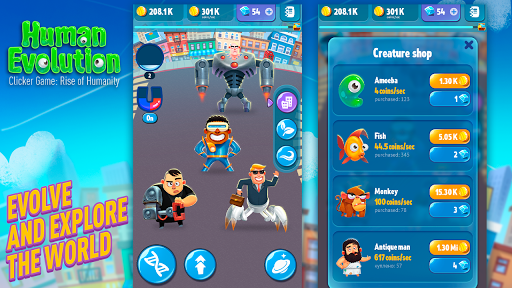 Human Evolution Clicker Game MOD APK, Unlimited Money
