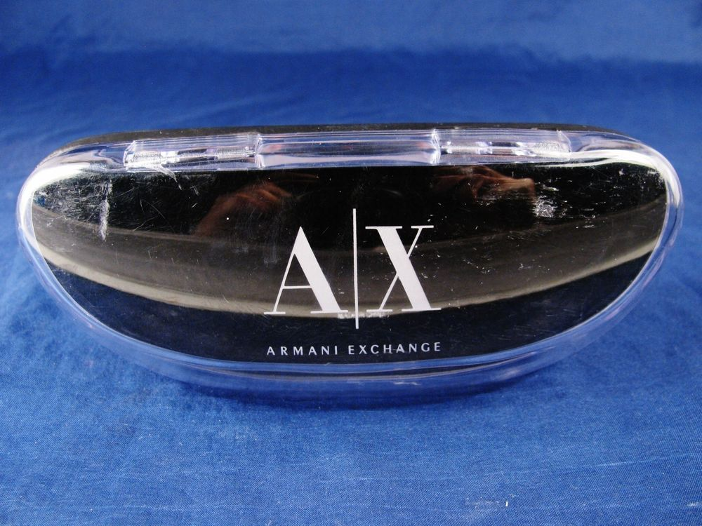 ARMANI EXCHANGE A/X Designer Eyeglass Sunglass Case Black #ArmaniExchange #Designer