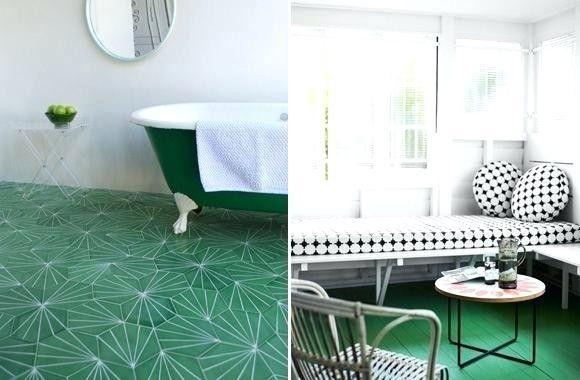 carrelage metro vert - jd3ddesigns.com | Stylish bathroom, Mid century modern bathroom, Jungle ...