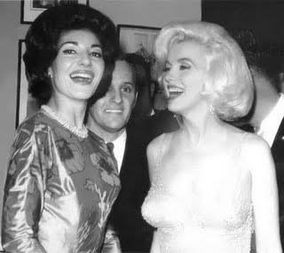 Maria Callas with Marilyn Monroe