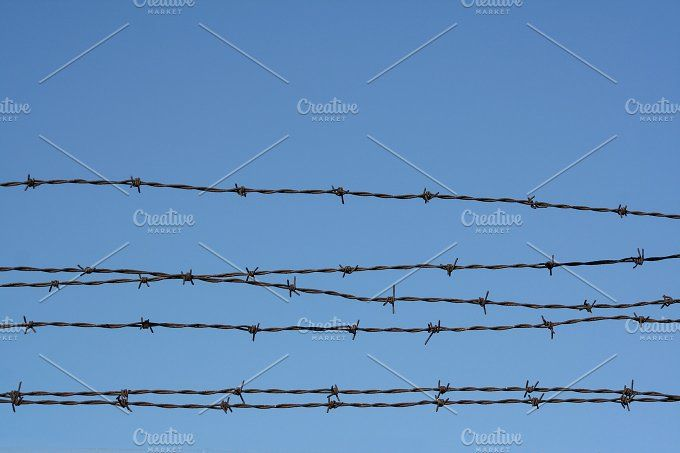 Barbed Wire & Blue Sky | Pinterest