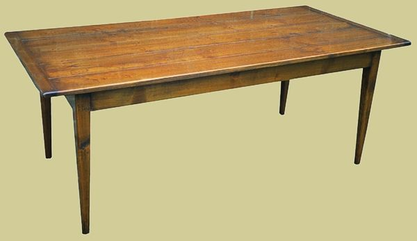 Tapered Leg Table Fruitwood Dining Tables Table Oak