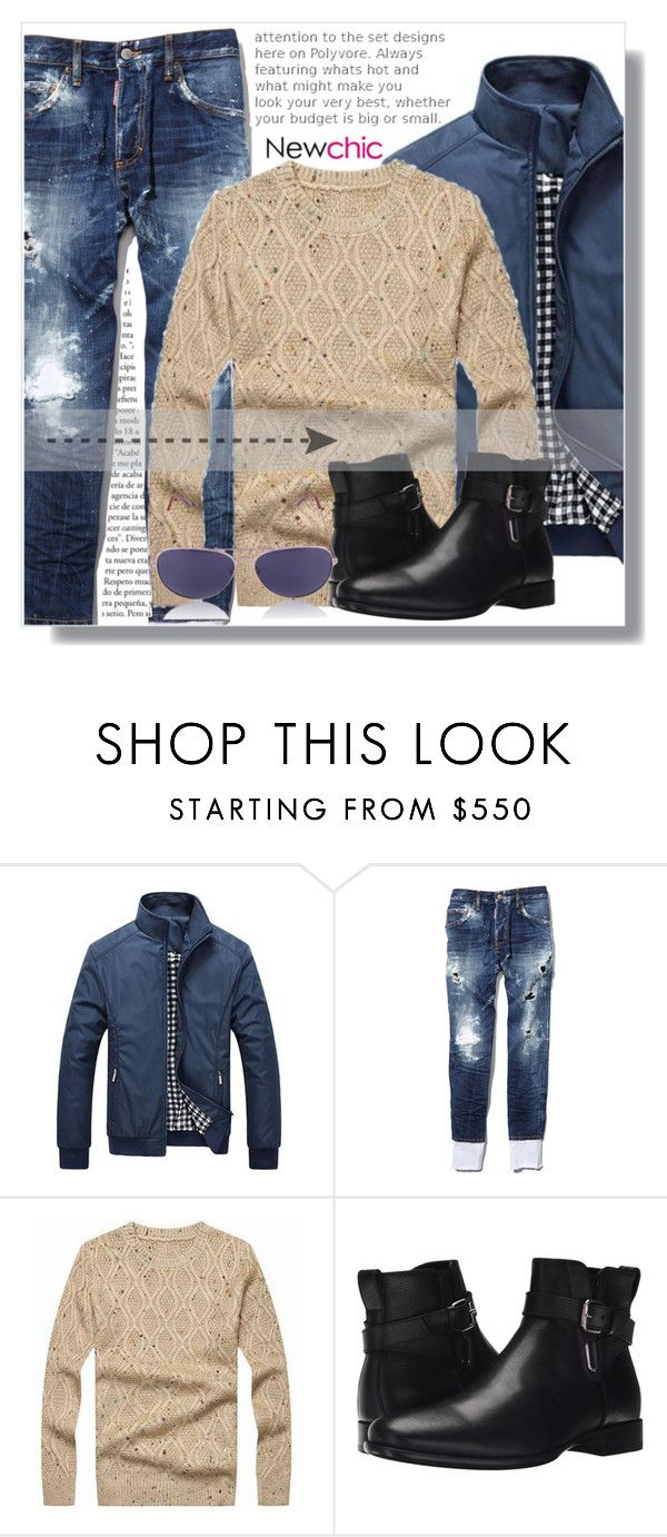 """NewChic !"" by dianagrigoryan ❤ liked on Polyvore featuring Dsquared2, Aquatalia by Marvin K., men's fashion and menswear"