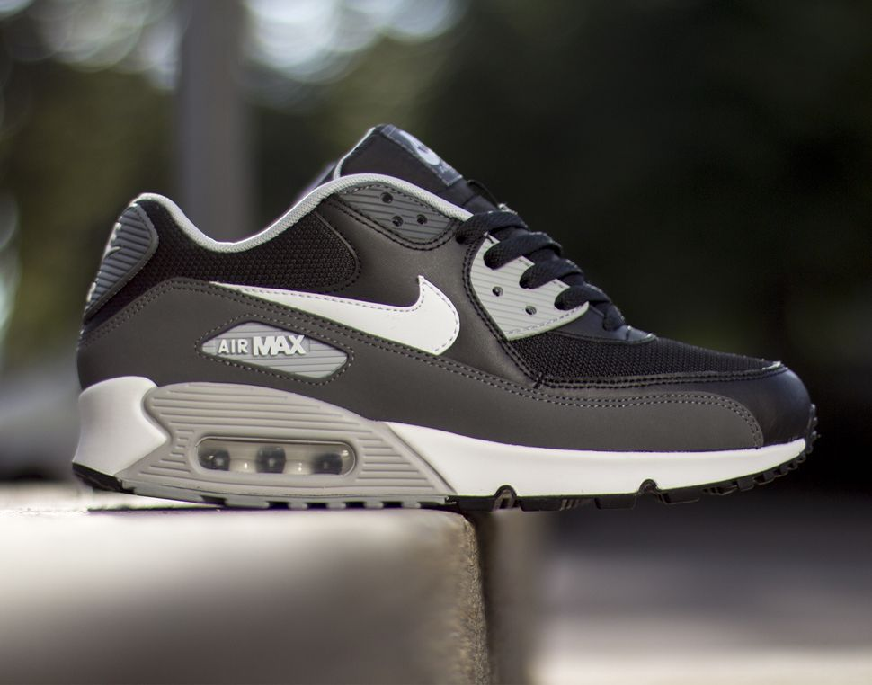#Nike Air Max 90 Essential Black/Grey-White #sneakers