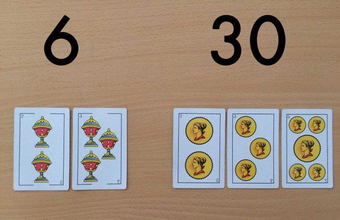 Mínimo común múltiplo y el máximo común divisor con cartas