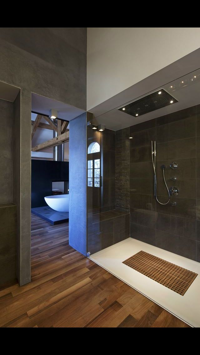 Caillebotis douche salle de bain Pinterest Bathroom tiling