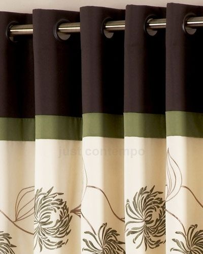 Brown And Green Curtain Panels Green Shower Curtains Green