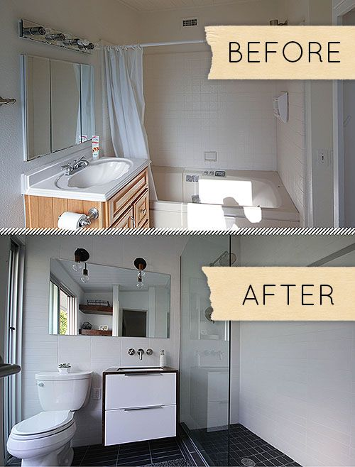 Before & After A Humdrum Bathroom Gets A Modern Makeover  Open Awesome Before And After Small Bathrooms Review