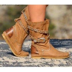 220156fc885 BOTA INDIA CAMEL Zapatos Oxford Mujer