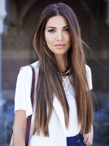 Brown Ombre Long Straight Lace Front Human Hair Wig Hh018 Haircuts For Long Hair Straight Haircuts For Long Hair Straight Hairstyles