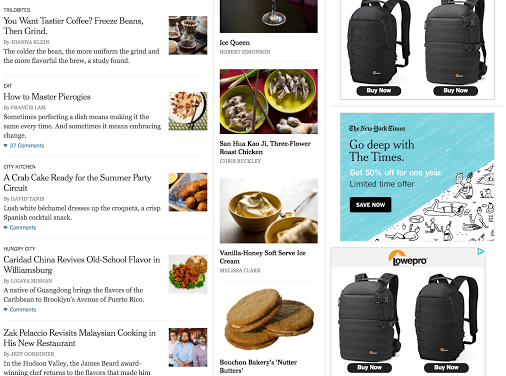 I just bought a backpack so now all the web sites I go to advertise the backpack I already bought