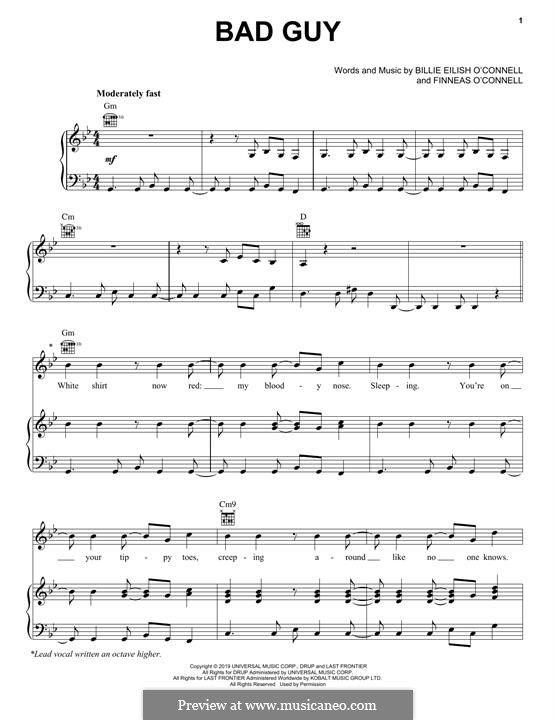 Bad Guy Sheet Music Notes Cello Sheet Music Saxophone Sheet Music