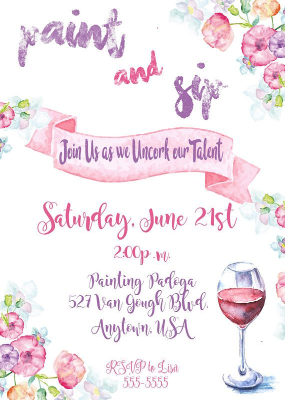 681b37aaa9a68a Paint and Sip Invitation