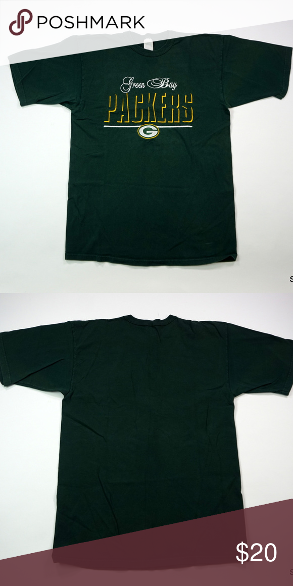 best website 0089e 1ee2c VTG Green Bay Packers Embroidered Spellout T-Shirt Vintage ...