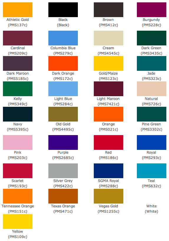 Pantone Sublimation Colour Chart Pantone Colour Pinterest