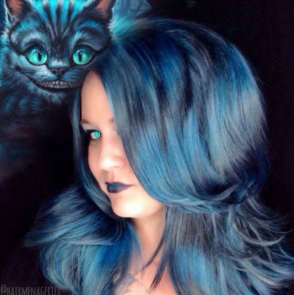 Cheshire Cat Disney Hair Rainbow Hair Rainbow Hair Color