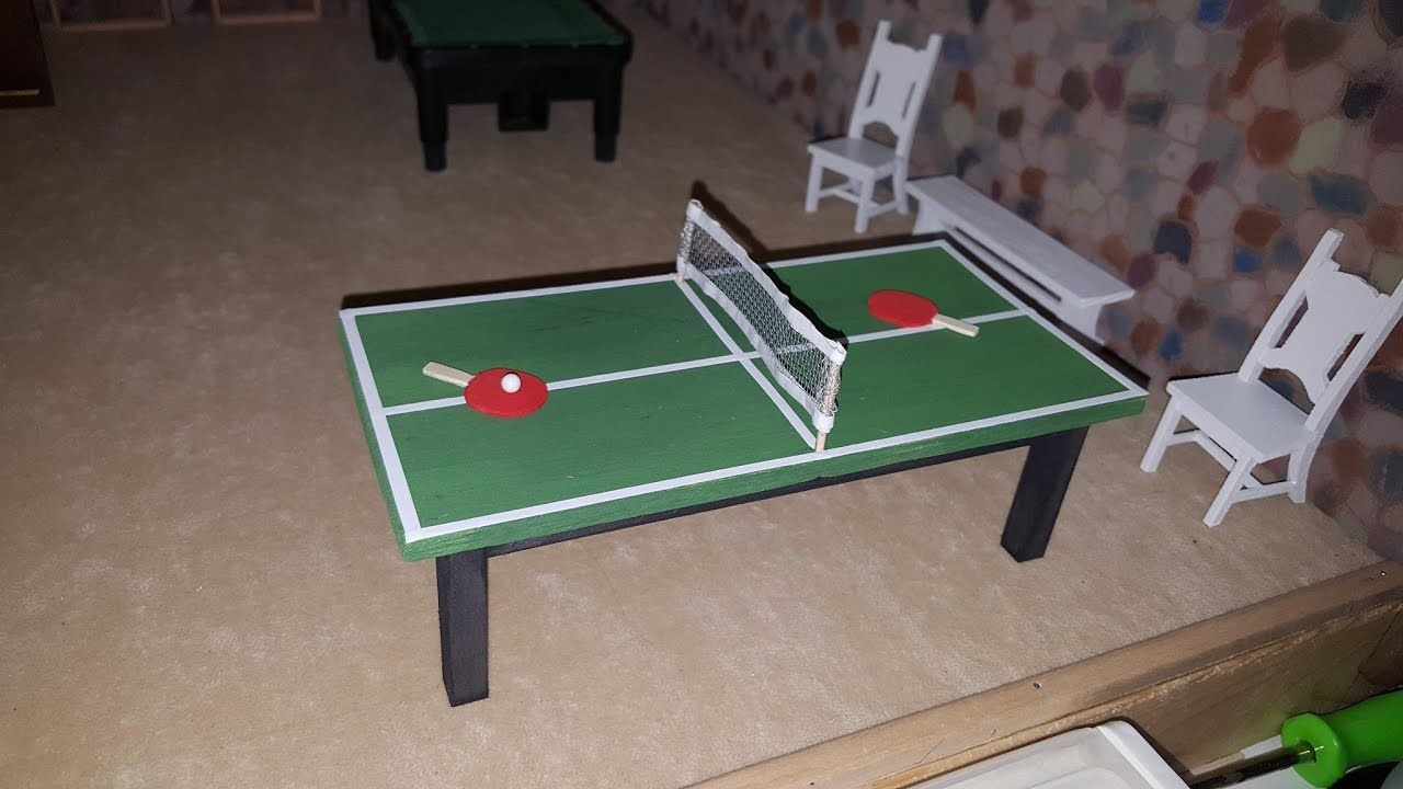 Tutorial Miniature Ping Pong Table Ping Pong Ping Pong Table Mini Ping Pong Table