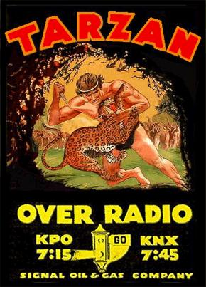 KPO RADIO. TARZAN, publicidad de 1934.