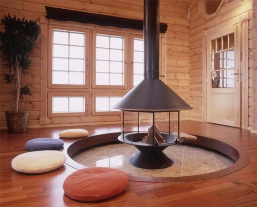 Great Japanese Fireplace Design