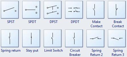 Standard Circuit Symbols For Circuit Schematic Diagrams Circuit Electronics Basics Symbols