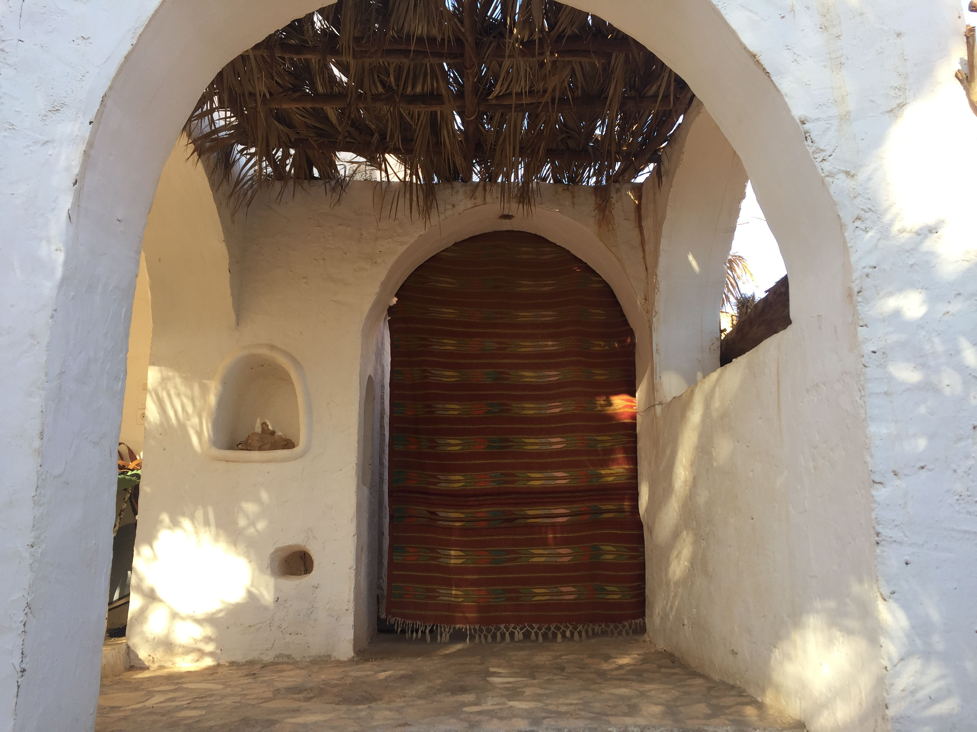 """Porte d entrée de la maison d h´tes """"Gite Tarist"""" Ghardaia Algérie"""