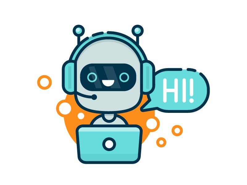 Cute Chat Bot Icon Robotika Kartun Desain