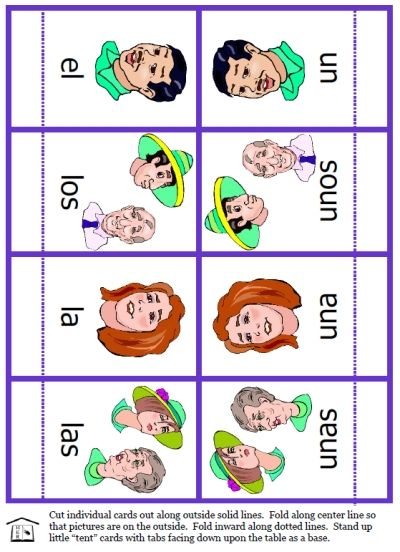 FREE Spanish articles activity set with several types of cards to ...
