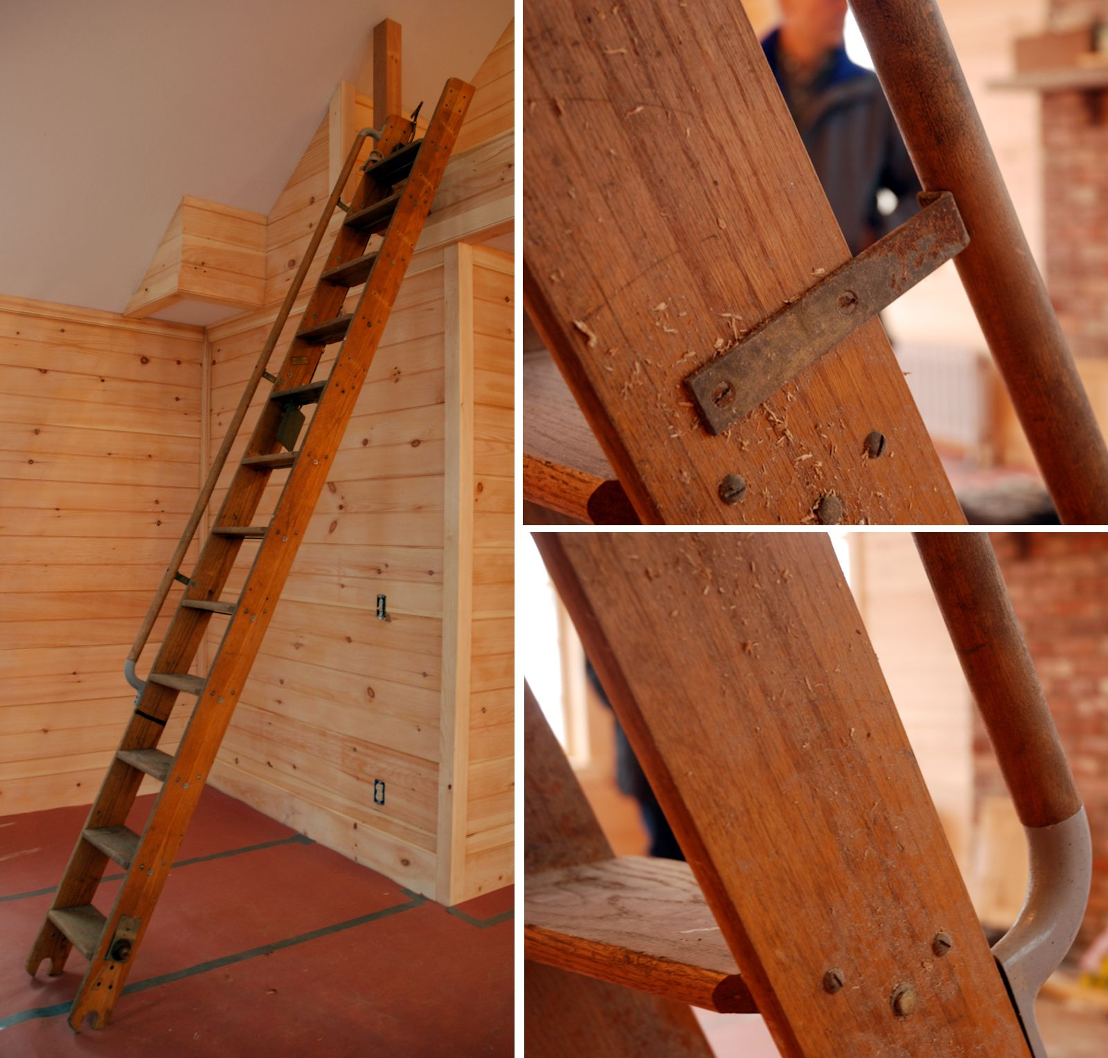 one like this on van craigslist antique library ladder | Boy