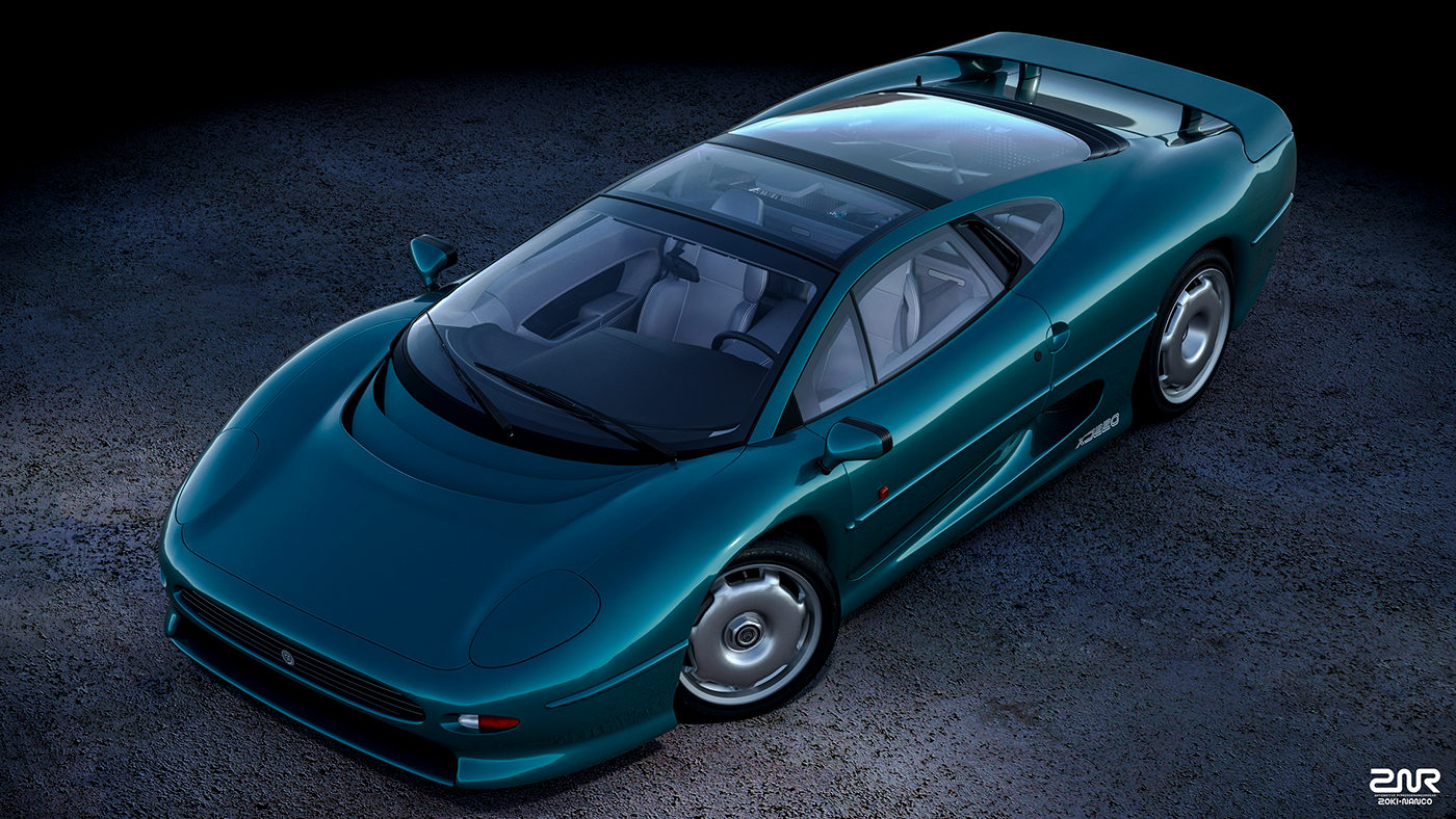 jaguar xj220 on behance | drive ll
