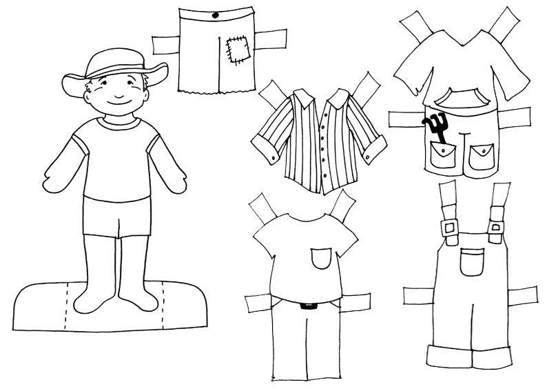 recortable de niños con sus complementos para escolares | Francés ...