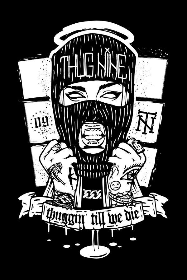 Gangsta girl Thug Nine on Behance | Gangsta girl, Thug ...